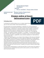 MV-U2-Actividad 2. Ensayo Sobre El Boom Latinoamericano