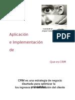 CRM Implementación