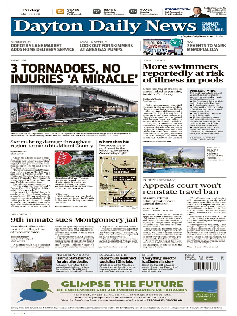 Dayton daily news may 26 2017 subscription business model interest