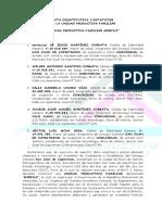 Acta Constitutiva Estatutaria Para Unidades Productivas Familiares (Actualizado)