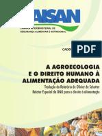 A Agroecologia e o Direito Humano à Alimentação Adequada