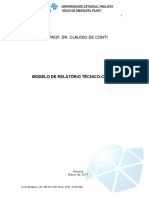 Modelo  Relatorio Cientifico