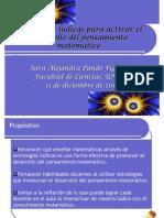 Estrategias Ludicas Para Activar El Desarrollo Del Pensamiento Matematico.
