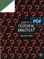 261592870 Hans Johannn Glock Que Es La Filosofia Analitica