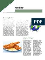 service project newsletter pdf
