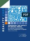 Assessing the Political Impact of Social Media Uganda