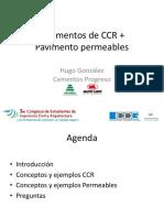 Pavimentos CCR y Concreto Permeable