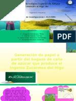 Generación de  papel a base de bagazo de caña de azucar