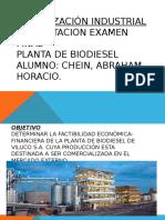 Planta de Biodiesel Final Organización Industrial