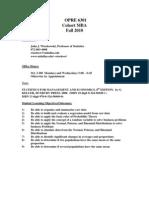 UT Dallas Syllabus for opre6301.mbc.10f taught by John Wiorkowski (wiorkow)