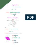 Formulas de Las Piramides