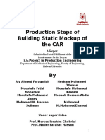 Production Steps of Building Static Mockup of the CAR