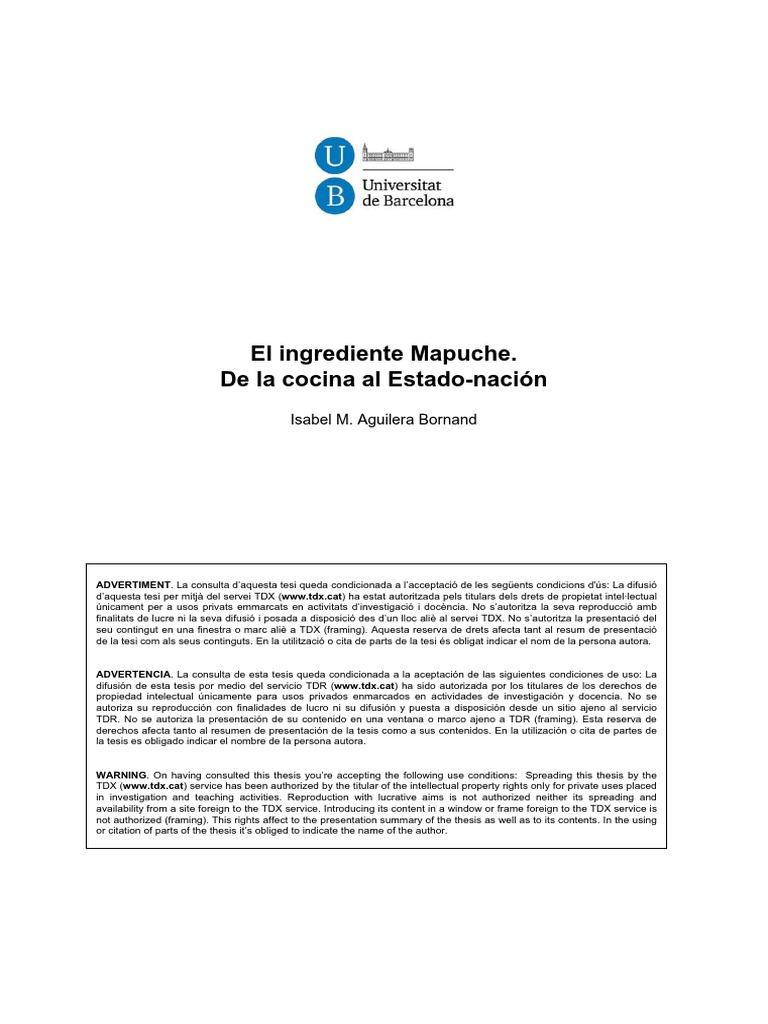 El ingrediente Mapuche. De la Cocina al Estado-Nación