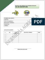 Ficha de Inscripcion Campeonato 2016