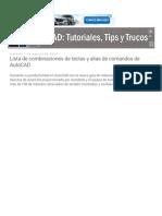 AutoCAD Tutoriales, Tips y Trucos Lista de Combinaciones de Teclas y Alias de Comandos de AutoCAD