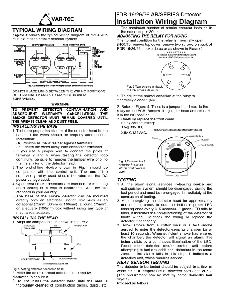 Famous 2 Wire Smoke Detector Illustration - Wiring Schematics and ...