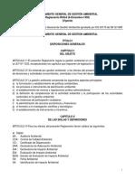 2.1 Reglamento General de Gestion Ambiental
