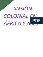 Expansión Colonial en África y Asia