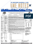 5.30.17 vs. MOB Game Notes