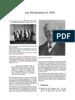 Balfour Declaration of 1926