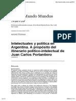 Tzeiman (2015) - Intelectuales y política en Argentina