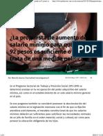 30-05-17 ¿La Propuesta de Aumento de Salario Mínimo Para Quedar en 92 Pesos Es Suficiente o Sólo Se Trata de Una Medida Política- - Publimetro México
