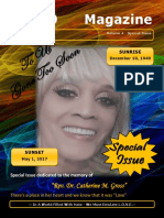 """Special Magazine In Memory of """"Rev. Dr. Catherine Gross"""""""