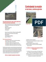 Control Erosionuso de Pastos en Caminos