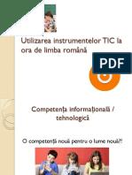 Utilizarea Instrumentelor TIC La Ora de Limba Română Pop Alis