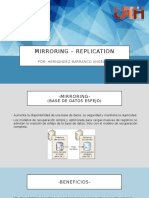 Mirroring y Replication