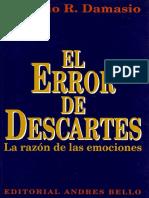 Damasio El Error de Descartes Libro