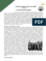 LA REVOLUCION CUBANA Lectura y Cuestionario NO Contestado