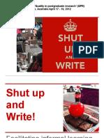 Shut Up and Write!_presentation