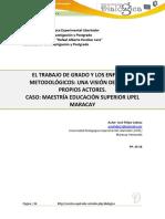 UPEL - EL TRABAJO DE GRADO Y LOS ENFOQUES METODOLÓGICOS.pdf