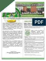 Boletin Academico DINAE No.033 Del 110809