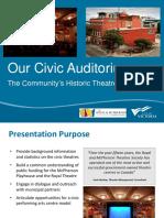 ADDENDA - Presentation, Royal and McPherson Theatres Society, May 23, 2017