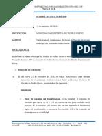 Informe Nº 033-2016. Instalaciones Electricas Mercado Pueblo Nuevo