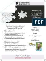 Foundations Training Flyer 2017