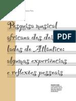 Pesquisa Musical Africana Dos Dois Lados Do Atlântico