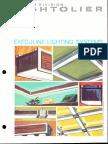 Lightolier Execuline Lighting System Brochure 1969