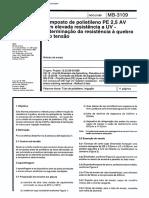 NBR 11974 MB 3109 - Composto de Polietileno PE 2 5 AV Com Elevada Resistencia a UV - Determinacao