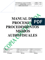 Manual Procesos Procedimientos Audiovisuales