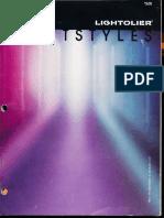 Lightolier Lightstyles Brochure 1985