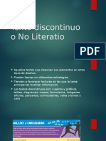 Texto Discontinuo o No Literatio