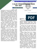 Leaflet 10. Pengenalan Alat Tangkap Set Net