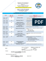 Class Program 2017