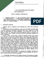 COMPARATO, F. C. Funcao Social Da Propriedade Dos Bens de Producao
