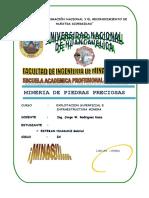 Work Gabriel Esteban Huamani Mineria de Piedras Preciosas