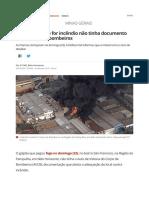 Reportagem Galpão Incendiado