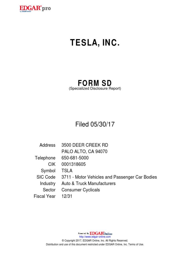 Tesla sic code